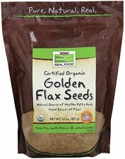 Organic Golden Flax Seeds Now Foods 2 lbs Seed