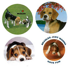 Beagle Magnets :4 Way-Cool Beagles for your Fridge or Collection-A Great Gift