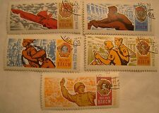Russia Stamp Set 1968 Scott 3501 - 3505 A1680