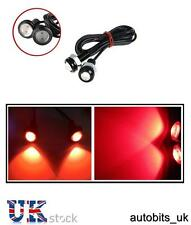 2 X 10W LED RED Eagle Eye Light Car DRL Fog Daytime tail Backup Rear Signal NEW