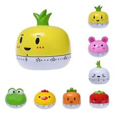 Kitchen Egg Timer 60 Minutes Cute Vegetables Cooking Mechanical Home Decor Green