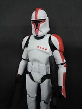 Star Wars Clone Trooper clonetrooper Red 6 inch custom made loose figure