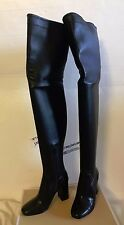 MICHAEL Michael Kors Chase Over the Knee Boots BLACK LEATHER  5.5M  $350.00 !!!