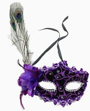 Venetian Party Mask Feather Lace  Masquerade Ball Carnival Fancy Dress 5 colors
