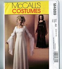 Retired McCalls M4889 Medieval Renaissance Costume Dress Gown Pattern 6 8 10 12