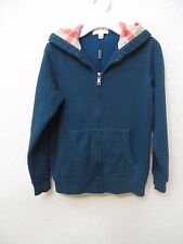 NEW  BURBERRY Kids Zip Hoodie Sweat Dark Teal Size 10 Y MSRP $ 150