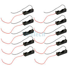 "Lot 10pcs New 1x AA/2A 1.5V Battery Clip Holder Box Case Plastic w/6""Leads Wire"