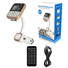 Gold 3 in 1 Car Bluetooth Kit Mp3 Player and Charger FM Transmitter SD Remote