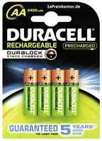 4x Akku AA Mignon Duracell Rechargeable DURALOCK Stays Charged 2500 mAh Blister