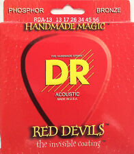 DR RDA-13 Extra Life Red Devils Coated Acoustic Guitar Strings 13-56 med-heavy