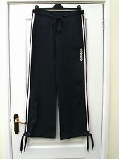 ADIDAS SLATE BLUE 3 STRIPE BABY PINK STRETCH ZIP WAIST UTILITY SPORTS TROUSERS