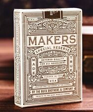 MAKERS Playing Card Deck White Gold Label Special Reserve -Dan & Dave LE 500 New