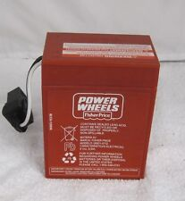 Power Wheels 00801-0712 6 volt RED BATTERY Genuine 1 year warranty