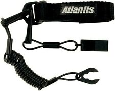 Atlantis - A2109PFW - Pro Floating Lanyard with Whistle, Black`