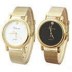 New Lady Style Gold Classic Womens Quartz Stainless Steel Wrist Watch Useful