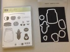Stampin Up Perfectly Preserved clear mount stamp set and Cannery Set framelits