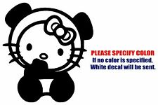 Hello Kitty Panda Bear Funny Vinyl Decal Car Sticker Window bumper laptop 6""
