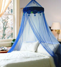 DREAMMA Blue Round Dome Bed Canopy Bedcover Mosquito Net Bug Netting Kid Bedding