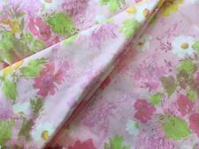 FIELDREST PERFECTION VINTAGE TWIN FITTED & FLAT SHEET, PINK FLORAL PERCALE