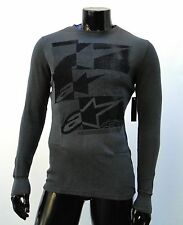 Alpinestars Motocross effed up charcoal L/S thermal atletic mens t shirt medium