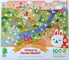 CEACO® KIDS MOSHIMOSHIKAWAII® WHERE IS FLOWER MOSHI? 100pc Jig Saw PUZZLE