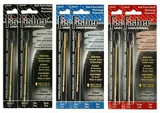 "6 Fisher Space Pen  ""SU"" Universal Ink Refill Pack / 2 of each Color"