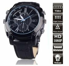 16GB FULL 1080P SPY WATCH CAMERA 12MP PHOTO WATERPROOF MOTION & IR DVR