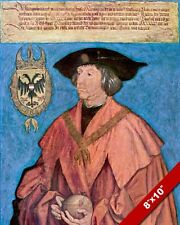 HOLY ROMAN EMPEROR MAXIMILIAN I KING OF GERMANY PAINTING ART REAL CANVAS PRINT