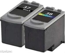 SET OF 2 CANON REFILLED INKJET CARTRIDGES PG-37 CL-38 MP220 MP210 MP140 MP470