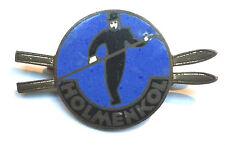 Holmenkol Anstecknadel um 1920 Skilauf Skilaufen Skiwachs Schifahren sehr selten