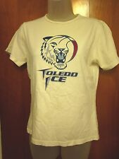 TOLEDO ICE semi-pro basketball ABA women's small T shirt logo beat-up tee Angel