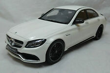GT Spirit Mercedes AMG C63 S Designo Diamond White Dealer LE 1000pcs 1:18*New!
