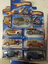 Hot Wheels Lot of (7) 40's Woodie types! All Different