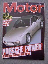 Motor (16 Feb 1985) Porsche 944 Turbo, Renault Alpine V6, Nova, Chevette, Volvo