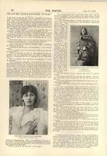 1895 Mr And Mrs Arthur Bourchier Interview Miss Agnes Miller