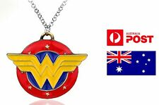 Superhero Necklace Pendant Wonder Woman Diana DC Comics Inspired Logo Necklace