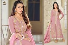 Unstitched Bollywood Indian Straight Cut Suit Georgette Salwar Kameez REDUCED