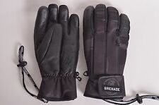2015 NWOT MENS GRENADE SLASHED ZIPPER GLOVES $70 L black leather palm insulated