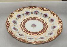 Antique Cauldon UK Art Nouveau c1905 Purple Pansy Red and Gilt 22cm Plate