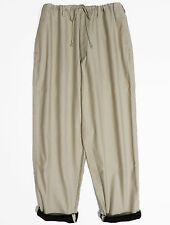 Yohji Yamamoto Y's for men Beige Wide Cotton Pants/Trousers Drawstrings Tapered