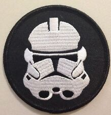 Star Wars Clone Trooper Helmet Old Republic Stormtrooper Iron On Patch Approx 3""