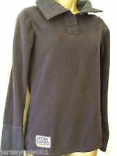 NEW WITH DEFECTS £55 SUPERDRY SIZE 10  NAVY BLUE POLAR HENLEY TOP