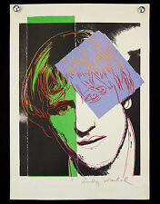 ANDY WARHOL(1928-1987)PORTRAIT GÉRARD DEPARDIEU Lithographie sur vélin POP ART