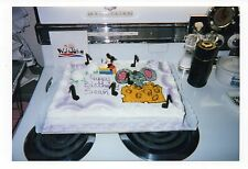 Vintage Photo Mouse Sitting On Cheese Birthday Cake, 1990's, Mar16