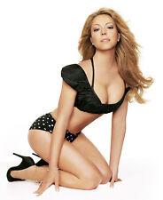 Mariah Carey 8X10 sexy black bikini
