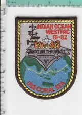 USS Coral Sea CV-43 USN 1981-1982 INDIAN OCEAN WESTPAC CRUISE JACKET Patch 81-82
