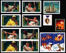 2012 Imperf Year Set - Singles & Blocks Baseball Santa Holy Family Purple 1812