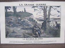 GRAVURE 1914 LA GRANDE GUERRE BATAILLE DU NORD PROUESSES FUSILLES MARINS