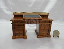 Miniature 1:12 Scale Dickens Writing Desk For Doll House [Finished in walnut]