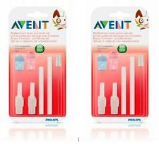 Philips AVENT Baby Infants Straw Cups Replacement Straw Sets with brush X 2